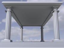 Marble antique columns. Ancient marble antique 3d columns stock illustration