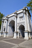 Marble Arch in London. A view of Marble Arch in London Royalty Free Stock Images