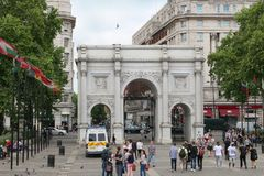 Marble Arch, London England Royalty Free Stock Photos