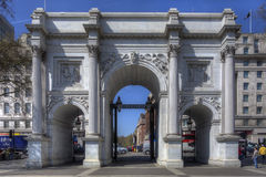 Marble Arch, London. Photo of one of the famous landmarks of London, The photo can be used as a travel photo visiting England, and London in particular Royalty Free Stock Photography