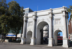 Marble Arch, London. Marble Arch in London at the top of Oxford Street Stock Photos
