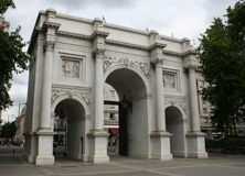 Marble Arch, Oxford Street Stock Image