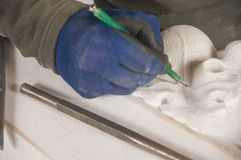 Marble artisan Stock Photo