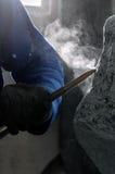 Marble Artisans Stock Image