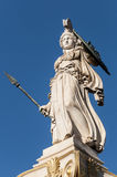 Marble Athena statue. Classic Athena statue, athens, greece Stock Photo