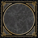 Marble Background with Frame, Border Stock Image