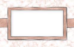 Marble Background Invitation Rose Gold White Royalty Free Stock Image