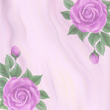 Marble background with roses Royalty Free Stock Photo