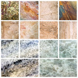 Marble background set marble texture Royalty Free Stock Images