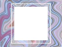 Square frame in marble background royalty free stock image