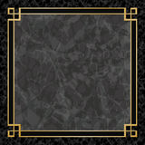 Marble Backgrounds with Gold Frame Royalty Free Stock Photography