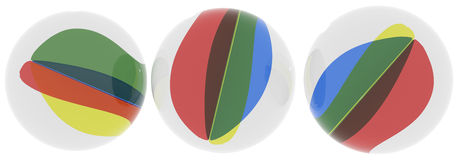 Marble ball group Royalty Free Stock Photos