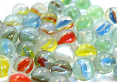 Marble balls. Coloured glass marble spheres toy background pattern Royalty Free Stock Photography