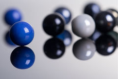 Marble Balls with reflection Stock Photography