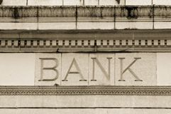 Marble Bank. Photo of a marble bank royalty free stock image