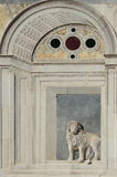 Marble bas-relief of a lion on Campo Santi Giovanni e Paolo in V Royalty Free Stock Image