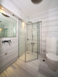 Marble bathroom. Modern bathroom with white marbles Stock Photo