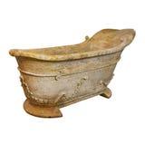 Marble bathtub isolated Stock Photography