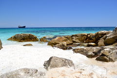 Marble Beach - rocky shore 5 Royalty Free Stock Images