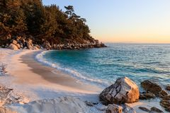 Marble beach. Thassos Islands, Greece Stock Image