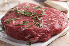 Marble beef on a cutting board Royalty Free Stock Photography