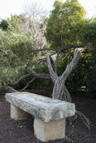 Marble bench Royalty Free Stock Photography