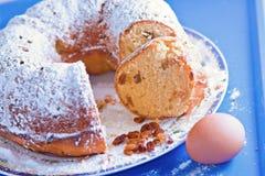 Marble bisquit cake sweet dessert food Royalty Free Stock Image
