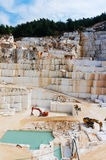 Marble block quarry Stock Images