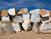 Marble blocks. Huge blocks of marble from an extraction industry in Portugal stock photo