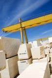 Marble blocks 6. Marble blocks aligned in factory yard, Alentejo, Portugal Royalty Free Stock Photos