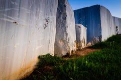 Marble Blocks On Ground Stock Photo
