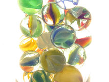 Marble Blowout. Colorful Cats Eye Marbles royalty free stock image