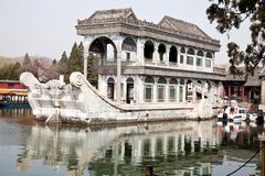 Marble boat Stock Images
