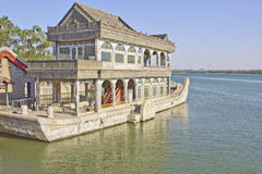 The Marble Boat of Purity and Ease, Summer Palace Stock Images