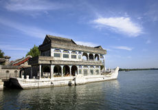 Marble boat of summer palace Stock Photos