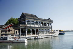 Marble boat in summer palace Stock Image