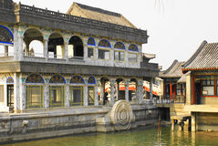 Marble boat summer palace Stock Image