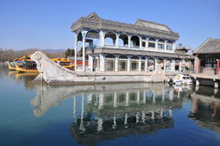 The marble boat in the Summer Palace Stock Photography