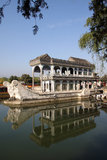The marble boat. The Summer Palace, Beijing Royalty Free Stock Photography