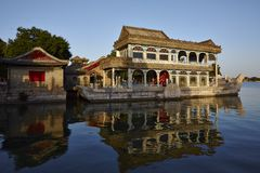 The Marble Boat in the Summer Palace Stock Photo