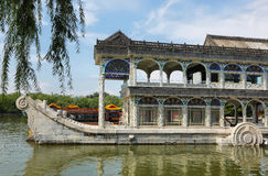 Marble boat at the summer palace Royalty Free Stock Photography