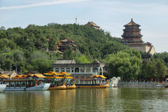 Marble boat at the summer palace Stock Image