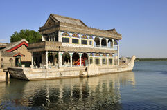 The Marble Boat. In the Summer Place is exquisite and unique royalty free stock images