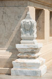 Marble boundary marker of a Buddhist temple in thailand Royalty Free Stock Image