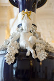 Marble boy with hooves on the ancient vase Royalty Free Stock Images