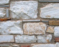Marble and brick wall closeup Stock Photography