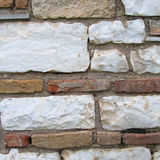 Marble and brick wall closeup Royalty Free Stock Image