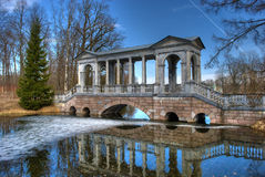 Marble bridge. An old marble bridge in st katherins park, russia Royalty Free Stock Image