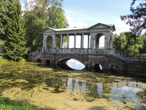 Marble bridge in the Catherine park Royalty Free Stock Photos
