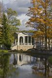 Marble Bridge in Catherine park, Pushkin, Russia Stock Images